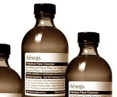 Aesop bottles close up