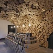 Aesop store with carton sculpture 1