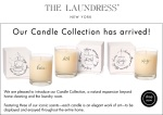 The Laundress E-mailer New Candles