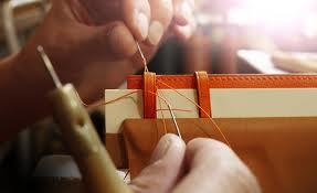 Making Hermes stitching close up